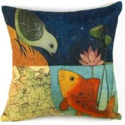 Bird-Fish-in-the-Two-World-Forever-Throw-Pillow-Case-Sham-Decor-Cushion-Covers-Square-1818-Inch-Beige-Cotton-Blend-Linen-0