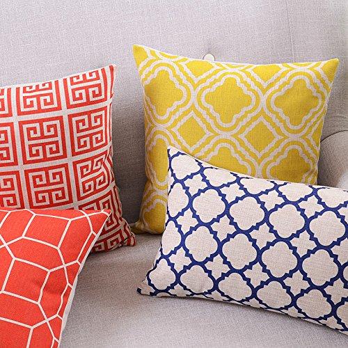 Createforlife-Cotton-Linen-Decorative-Throw-Pillow-Case-Cushion-Cover-Argyle-0-0