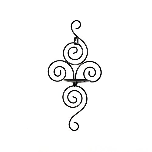 Gifts-Decor-Pair-of-Swirling-Iron-Hanging-Wall-Candleholder-Sconce-0-0