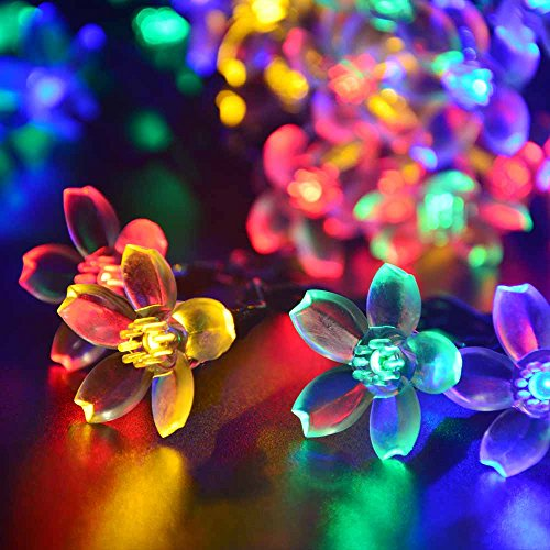 LUCKLED-Flower-Outdoor-Solar-String-Lights-21ft-50-LED-Multi-Color-Fairy-Blossom-Christmas-Lights-Decorative-Lighting-for-Indoor-Home-Garden-Patio-Lawn-Party-and-Holiday-Decorations-0