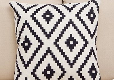 Popeven-Striped-Accent-Decorative-Throwtoss-Pillow-Cover-1818inch-0