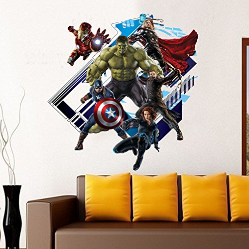 Yosa-3D-Avenger-Wall-Sticker-Baby-Kids-Room-Stickers-Cartoon-Home-Decor-Wallpaper-Poster-boys-room-decals-0