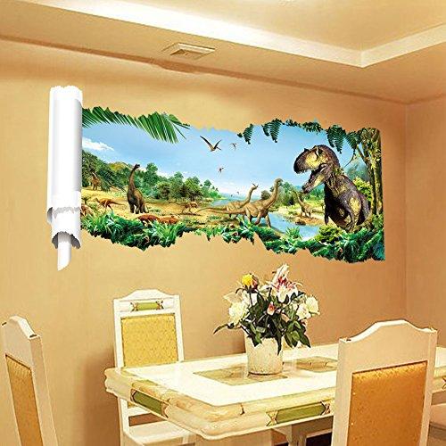 Zooarts-Jurassic-World-Dinosaur-Scroll-Wall-Decals-Sticker-for-Kids-Room-Decor-0-0