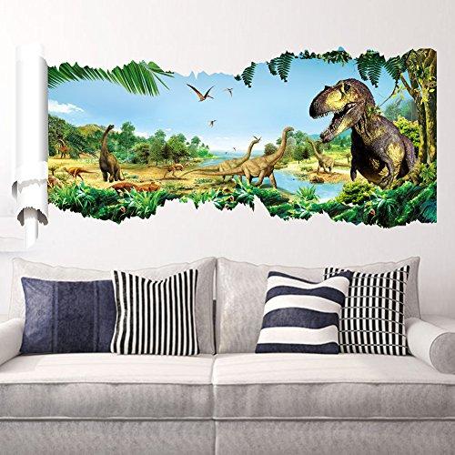 Zooarts-Jurassic-World-Dinosaur-Scroll-Wall-Decals-Sticker-for-Kids-Room-Decor-0