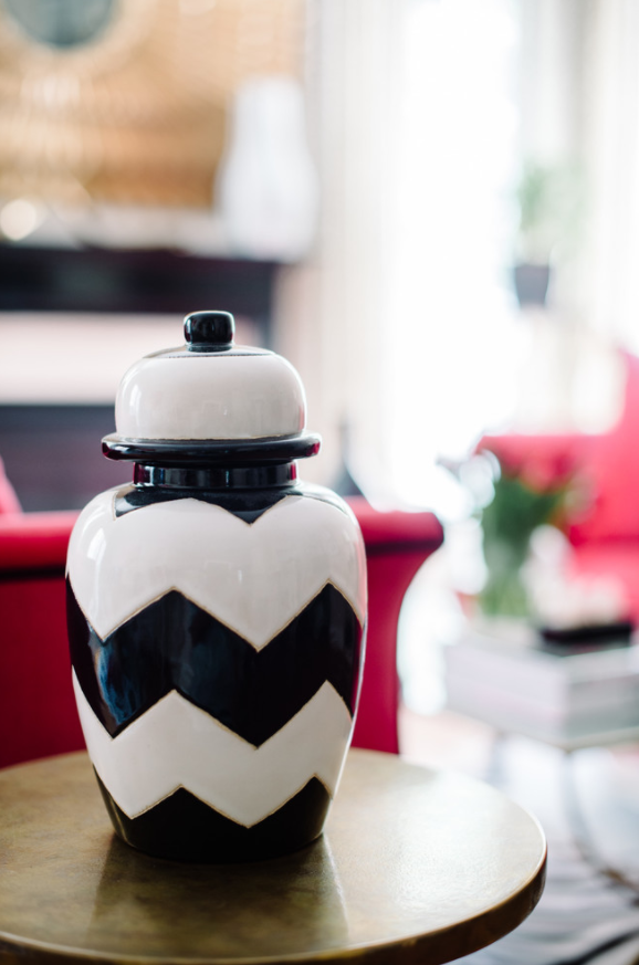 If You Are Thinking About Using Chevron In Your Decor, Use It In  Moderation. For Example, This Bold Vase Is Enough To Pull Off An  Effortlessly Chic Style In ...